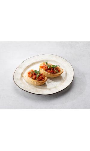 Брускетта с томатами и базиликом 2шт