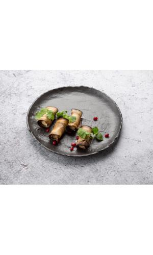Рулеты из баклажанов с орехами