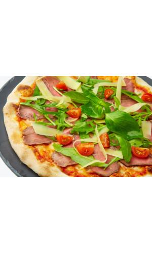 Пицца с ростбифом и пармезаном