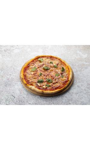 Пицца барбекю с индейкой и сыром скаморца
