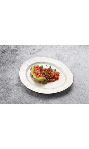 Крудо из тунца и лосося с гуакамоле