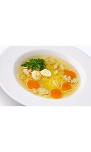 Куриный суп с домашней лапшой детский
