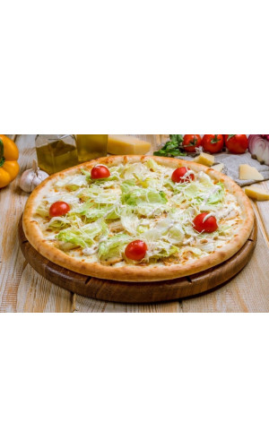 "Пицца ""Цезарь"" на белом соусе"