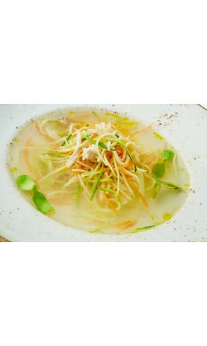 Куриный суп с домашней лапшой 1 литр